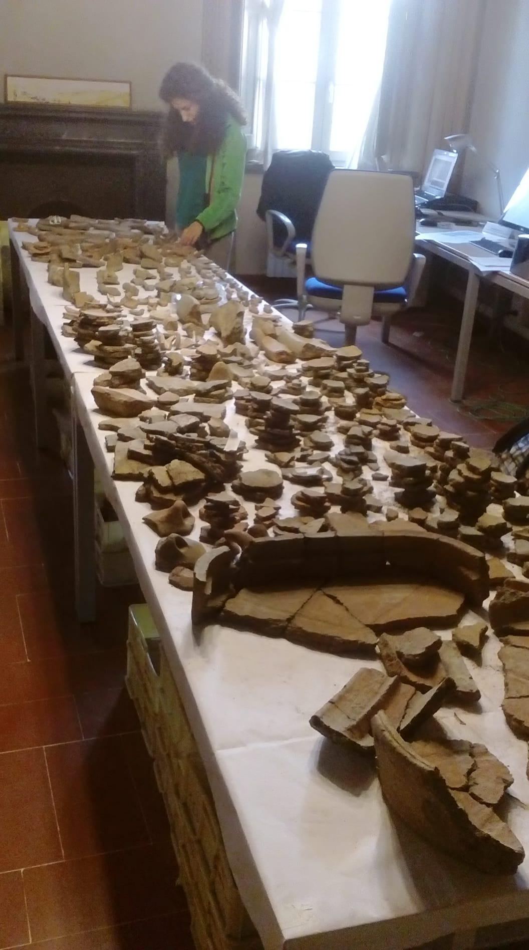 Tesi in corso su reperti etruschi da Pisa – Via S.Apollonia. 2018