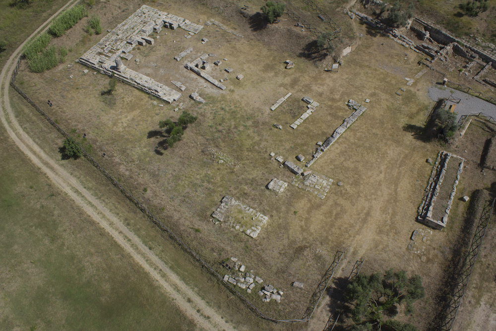 Parco archeologico di Locri. Il santuario di Contrada Marasà da drone. 2018
