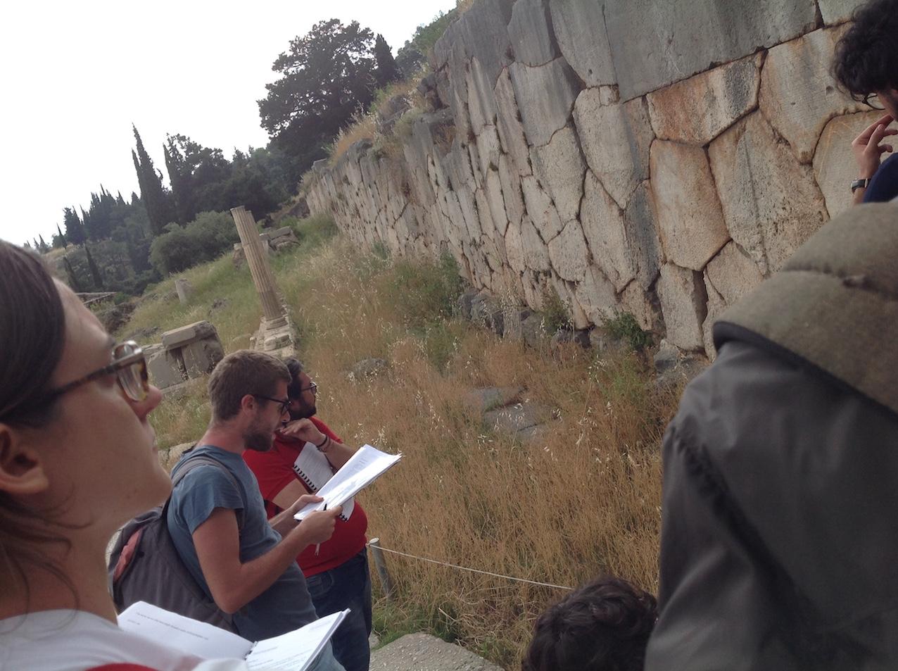 Visita didattica a Delfi degli allievi del corso di storia greca 2018