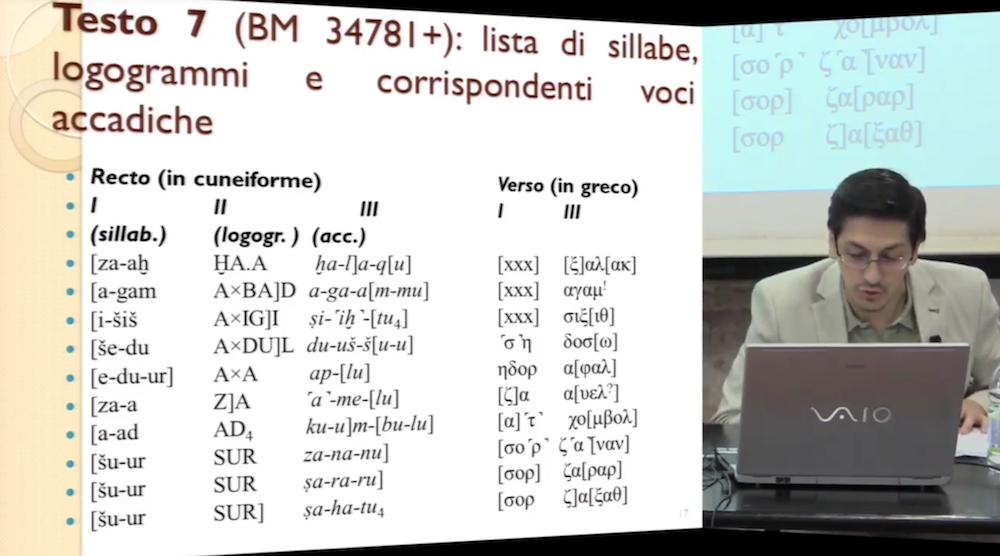 """I seminari di Mnamon. Salvatore Gaspa """"Le tavolette """"greco-babilonesi"""": problemi, interpretazioni e prospettive di ricerca"""". 2018"""